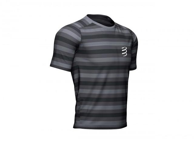 Compressport Performance T-shirt, black/stripes